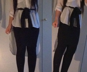 blouse, fashion, and longhair image