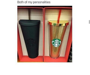 black, cup, and funny image