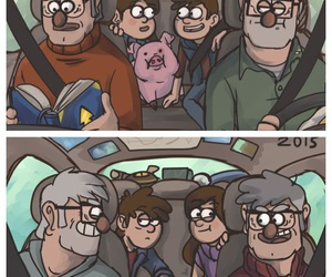 cartoon, stan, and pines twins image