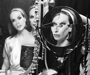 black and white, grunge, and drag image