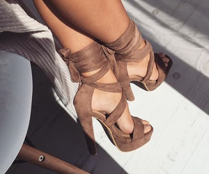 fashion, heels, and brown heels image