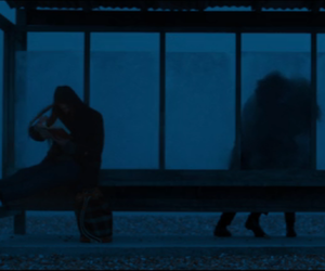 blur, bus stop, and cold image