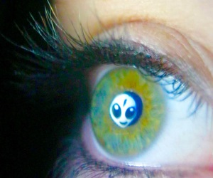 album, eyes, and green image