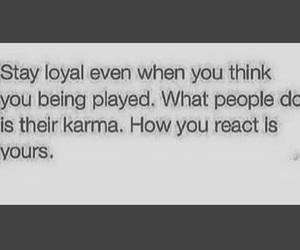 karma and loyal image