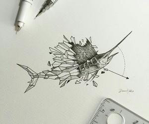 art and swordfish image