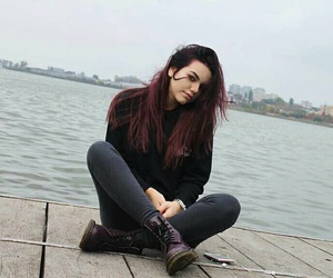girl, hair, and facebook image