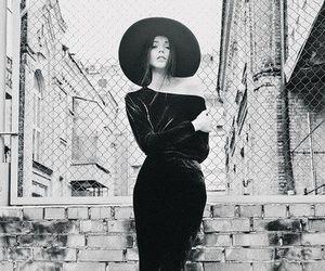 girl, black, and dress image
