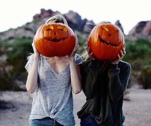 pumpkin, Halloween, and girl image