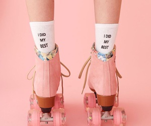 pink and roller skates image