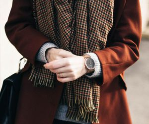 fashion, scarf, and coat image