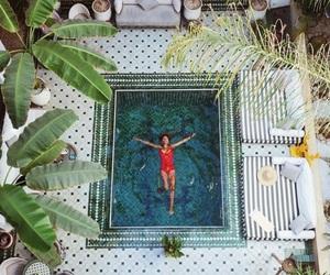 girl, pool, and travel image
