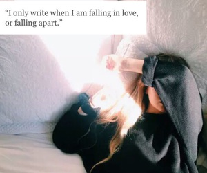 aesthetic, apart, and fall in love image