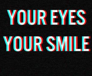 eyes, smile, and love image