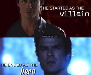 damon salvatore, ian somerhalder, and hero image