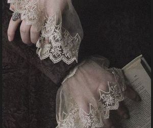 book and lace image