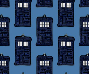 blue, doctor, and tardis image
