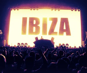 ibiza, party, and black and white image