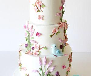 beautiful, bird, and cake image