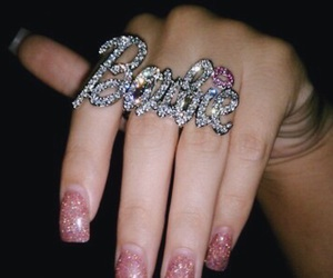 barbie, nails, and ring image
