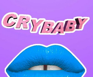 baby, cry, and lips image