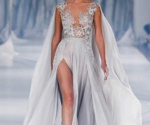 dress, paolo sebastian, and runway image