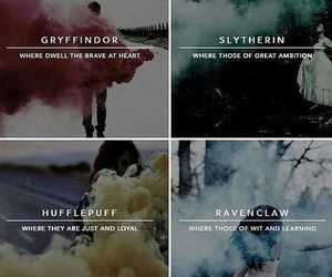 harry potter, gryffindor, and hufflepuff image