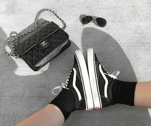 bag, shoes, and vans image