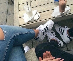 adidas, couple, and jeans image