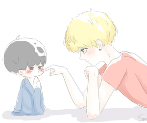 fanart, so cute, and luhan image