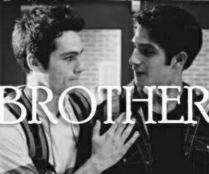 bff, black and white, and brothers image