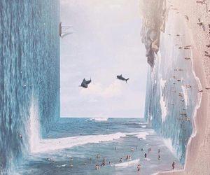 beach, art, and sea image
