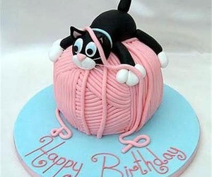 cake, cat, and cute image