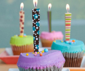 birthday, candles, and dessert image