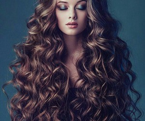 hair, largo, and cabello image