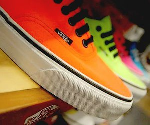 vans, shoes, and orange image