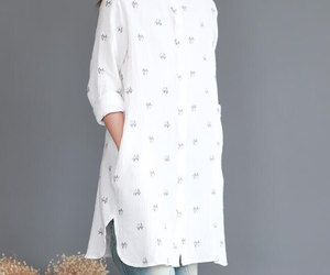 etsy, long sleeve, and gown image