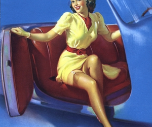 Pin Up, girl, and vintage image