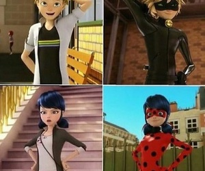 Adrien, ship, and ladybug and chat noir image