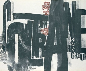poster, jazz, and typographie image