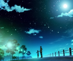anime, night, and scenery image