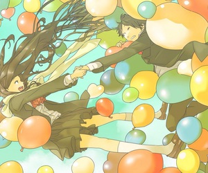 anime and balloons image