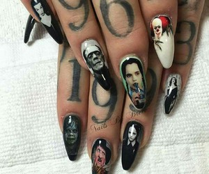 horror, nails, and movies image