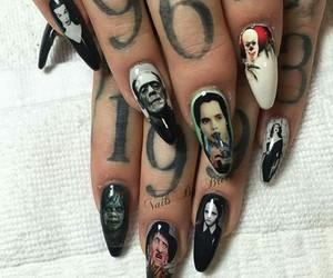 Halloween, nails, and Vampira image