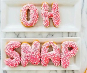 candy, donut, and pink image