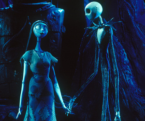 sally, tim burton, and Halloween image