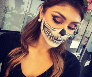 beautiful girl, Halloween, and halloween makeup image
