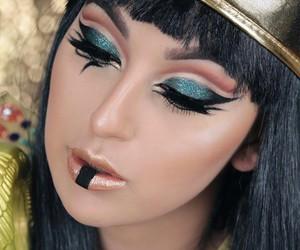 beautiful girl, cleopatra, and Halloween image