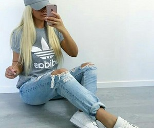 blonde, sport, and style image