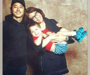 lauren cohan and steven yeun image