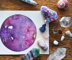 art, crystal, and purple image